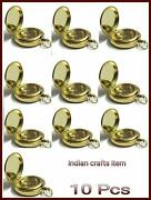 Lot Of 10 Pc Brass Compass Push Button 2 Solid Brass Nautical Gift