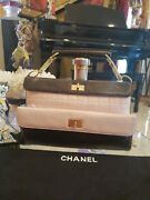 Authentic Double Flap Bag Mademoiselle Chocolate And Bag