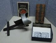 Antique Stereo Viewer Book And Cards Some Old Some Repro  Js