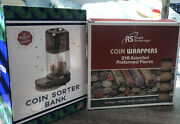 The Original Coin Sorter Bank Nib With 216 Coin Wrappers