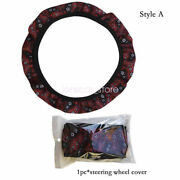 Boho Style Without Inner Ring For Car Steering Wheel Cover Gear Handbrake Cover