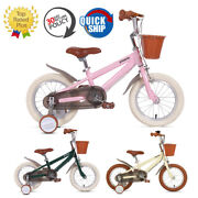 Phoenix 14 16 18 Inch Kids Bike With Training Wheels For Ages 3-12 Boys Girls