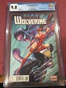 Savage Wolverine 6 Campbell Variant Cover. Cgc 9.8