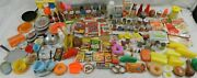 Vintage Faux Fake Food,cans,fruit,butter,milk,eggs,toy Play Kitchen Lot Of 150+