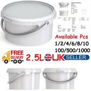 2.5l White Bucket Container With Lid And Handle Jokey Jet 22 Pm Storage Tubs Bin