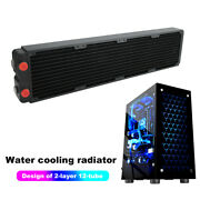 Pc Computer Cpu Water Cooling Double-layer Copper Heat Sink 45mm G1/4 Thread Tpg