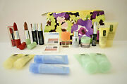 19 Pce. Clinique Makeup And Skincare Products + Bag Lipstick, Mascara And More New