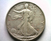 1937-s Walking Liberty Half Extra Fine Xf Extremely Fine Ef Nice Original Coin
