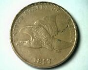 1857 Flying Eagle Cent Penny Xf+ Extra Fine+ Ef+ Extremely Fine+ Nice Coin