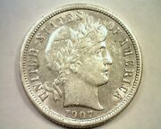 1907-s Barber Dime Choice About Uncirculated Ch Au Nice Original Coin Bobs Coins