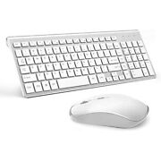 Wireless Keyboard And Mouse Bundle Combo Set For Mac Apple Full Size 2.4g Slim
