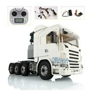 Lesu 1/14 88 Metal Chassis Scania Rc Tractor Truck Sound Hercules Cabin Light