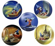 Knowles 50th Anniversary Disney Fantasia Set Of 5 Collector Plates Mickey Mouse