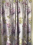 2 Pair Of Lined Custom Made Curtains Fabric From Designers Guild W254cm Xh206cm