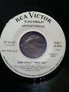 Elvis Presley How Great Thou Art/so High White Label Promo 45 1967 Nm-mint