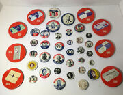 1968 Kleenex Presidential Campaign Button Collection -- Lot Of 41 Buttons