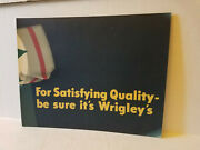 Vintage Wrigley Gum Advertising Sign 1950and039s Rare