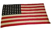 Wwii Era - 48-star 5and039x9.5and039 Large Bulldog Bunting United States American Flag