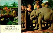 Postcard Childrens Zoo And Farm Chicago Zoological Park Brookfield Illinois