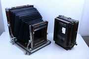 Deardorff 8x10 View Camera V8 With 8x10 And 4x5 Backs Front And Back Swings