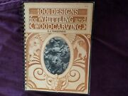 1001 Designs For Whittling And Woodcarving 1976 Edition Spiral Paper Back Book