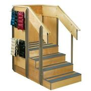 Clinton Staircase Storage Island With Hooks