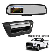 Rearview Mirror W/monitor+backup Camera For 2015-2019 Ford F-150 Pickup Truck