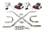 Fit Universal 2.5exhaust Builder X-pipe Tubing Kit And2 Electric Cutout Valve Kit
