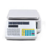 30kg 66lbs Digital Weight Scale Price Computing Retail Count Scale With Printer.