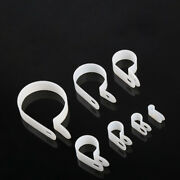 White Nylon R-type Electrical Cable Organizer Cable Clamps Clips Hose Wire