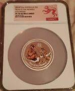 2016 P Australia Lunar Year Of The Monkey Colorized 2 2 Oz Silver Ngc Pf70