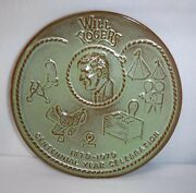Frankoma Pottery Will Rogers Centennial 1879 - 1979 Display Plate - 8-1/4 Green