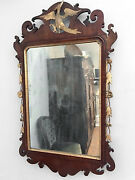 18th C. Chippendale Parcel-gilt Mirror With Carved Phoenix 1785 - 1795 Original