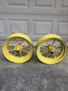 Two Antique Jd-2637 John Deere Spoke Wheel Rims