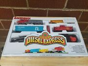 Bachman Ho Diesel Santa Fe Train Set Complete And New In The Box Factory Sealed
