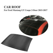 Roof Top Hood Cover Carbon Fiber Fit For Ford Mustang Coupe 2d 2015-2017 Factory