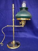 Vintage Solid Brass Student Desk Lamp, Adjustable Height, Heavy Weighted.