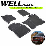 All Weather Floor Mats For 14-18 Silverado Crew Cab 1500 Wellvisors 3-864ch007