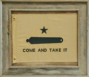 Barnwood Come And Take It Flag With Grommets | Framed Historic Texas Flag
