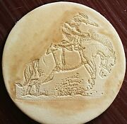 Acrylic Leather Embossing Stamp Horse Bronc Rider For Veg Tanned Leather