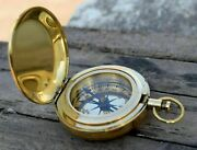 Lots Of 50 Pc Nautical Solid Brass 2 Push Button Compass Christmas Gift