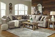 New Modern 5pcs Sectional Living Room Couch Set - Gray Fabric Sofa Chaise Ig3b