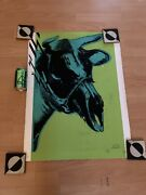 Paul Insect Dead Cow Green X/50 Signed Numbered Screen Print / Warhol Kaws Art