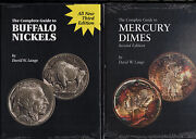 The Complete Guide To Buffalo Nickels+mercury Dimes By David Lange Two Books New