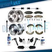 Front Disc Rotor Ceramic Pad Rear Drum And Shoes Suspension Kit Silverado 1500 2wd