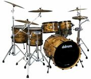 Ddrum Dios 5pc Shell Pack Exotic Gloss Natural Drum Kit Ds Mpz 522 Gn