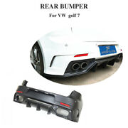 Fit For Vw Golf 7 Mk 7 Vii /r 14-17 Rear Bumper Diffuser Bodykit Cover Carbon