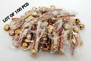 Collectible Lot Of 100 Pcs Brass Bosun Whistle Key Chain Copper Finish Vintage