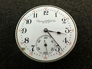 Vintage 12 Size Illinois Plymouth Pocket Watch Movement Grade 228 - Running