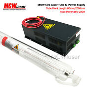 Mcwlaser 180w Co2 Laser Tube 200cm + Power Supply Machine Air Express Insurance